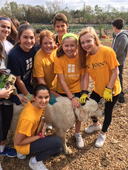 Sixth Graders Help Provide Healthy Food Options